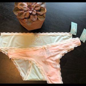 f40d8ae228b54b NWT Betsy Johnson Bride underwear thong Sz Large